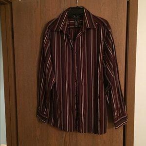 Axcess Men's long sleeved button up shirt dark red